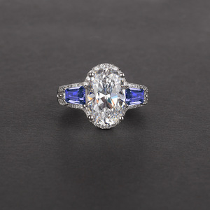 Image 3 - Onerain 高級 100% 925 スターリングシルバー作成モアッサナイトシトリンサファイア宝石の婚約結婚指輪ジュエリー卸売