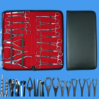 Quality 316 Surgical Stainless Steel Piercing Kit Anti allergic Puncture Tool Kits Body Piercing Tools 16PCS/Set