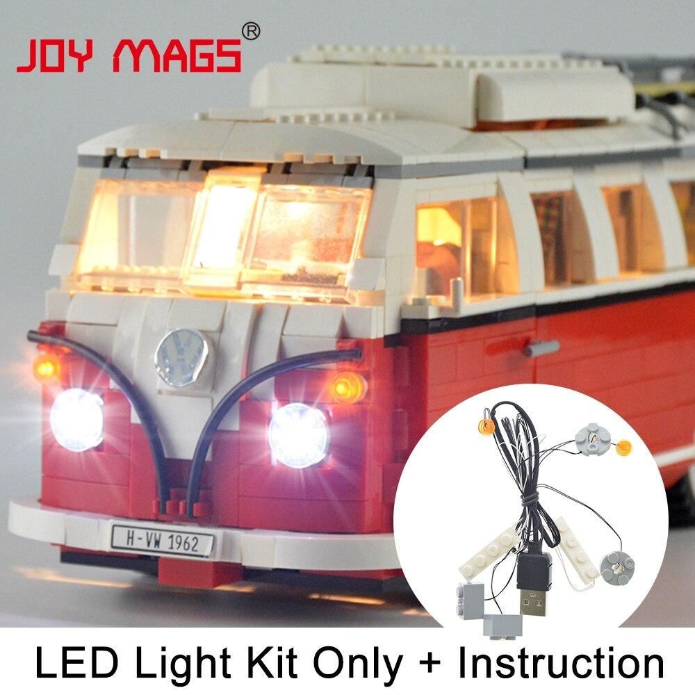 Alegría MAGS sólo Kit de luz Led para el creador de Volkswagen T1 Camper Van conjunto de luz Compatible con 10220 y 21001 (no incluye el modelo)