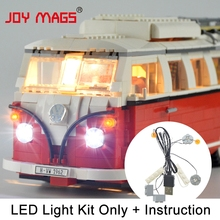 JOY MAGS Only Led Light Kit For Creator T1 Camper Van Light Set Compatible With 10220 (NOT Include The Model) lightailing led light kit for t1 camper van building blocks toys light set compatible with 10220 and 21001 for kids gift