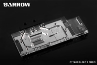 Barrow RGB Full Cover Graphics Card Water Cooling Block BS GF1080 For NVIDIA Founder Version GTX1080
