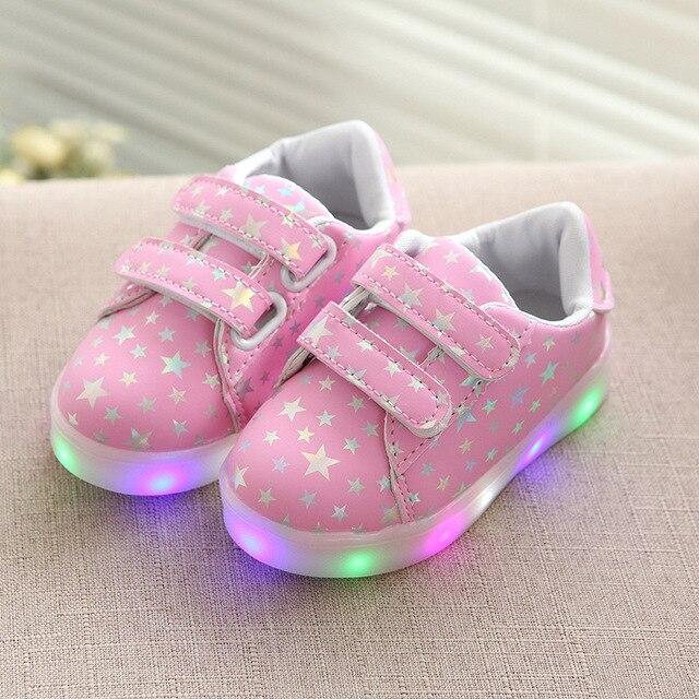 fca99d9667d Tênis Tenis tamanho 21-36 Luminosa Led Simulação Levou Luz Até Sapatos  Chinelos Infantis Sapatos