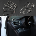 New arrival outlet ABS Chrome trim decoration cover ring 6pcs/kit For kia K2 RIO 2011-2015