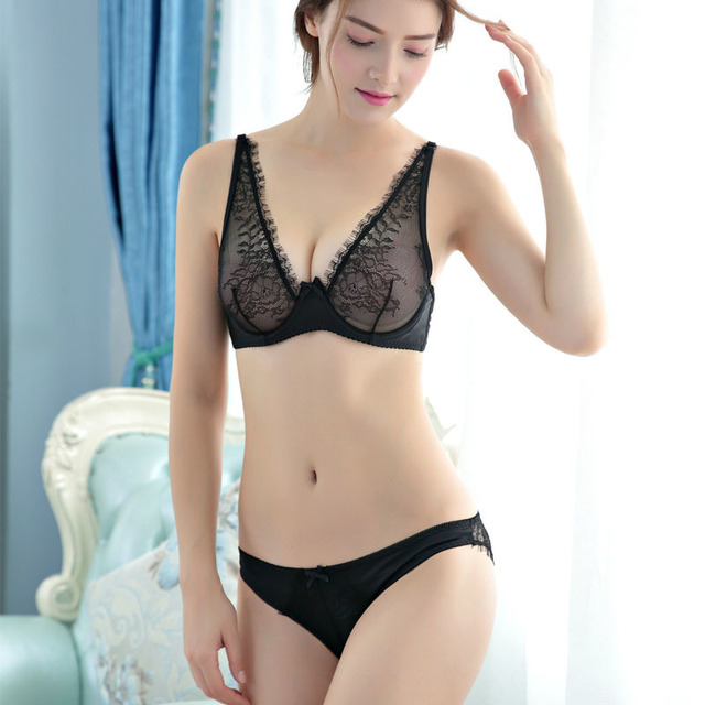half price buying now huge sale Aliexpress.com : Buy Maidy Underwear Sets Womens Plus Size Panties And Lace  Bra 3/4 Cup Unlined Sexy Bras For Ladies 70 85 A B C D #1622 from Reliable  ...
