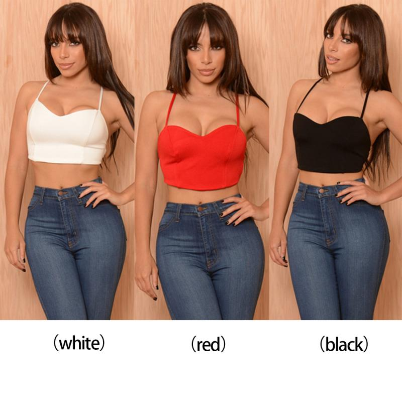 23a47c45c2c36 3 colors Summer Clothes Sexy Women Bra Crop Backless Tops Strap ...