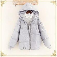 2016 женские зимние свободно утолщение с капюшоном ватные куртки женские зимние хлеб хлопка-ватник