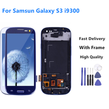 цена на 100% Tested For SAMSUNG Galaxy S3 Display i9300 i9300i Touch Screen Digitizer Replacement +Assemble Tools