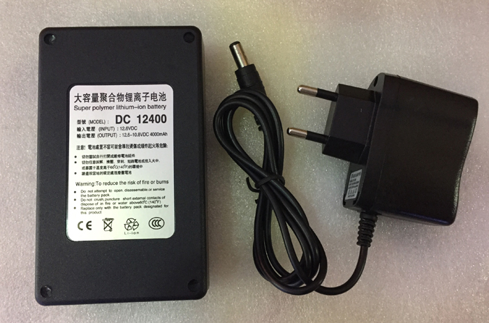 MasterFire High Quality Super Rechargeable Portable Lithium-ion Battery <font><b>DC</b></font> 12V 4000mAh Batteries <font><b>DC</b></font> <font><b>12400</b></font> With Plug image