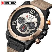 Curren Watches 2017 Men S Brand Luxury Military Quartz Chronograph Watch Waterproof Leather Clock Male Sport