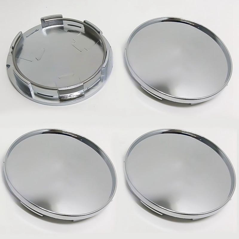4Pcs/Set 68mm Car Wheel Center Hub Caps Covers Set Chrome Silver Durable Wheel Caps Car Accessories оливковое масло ellatika для итальянского салата нерафинированное с бальзамическим уксусом 250 мл греция