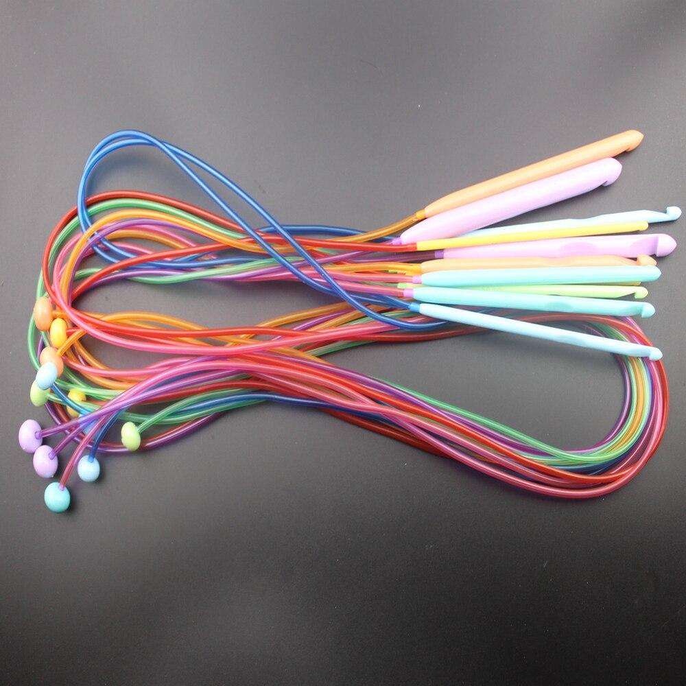 New 12PCS/Set Durable Flexible Afghan Tunisian Plastic Carpet Crochet Hooks Knitting Needles Set Size 3.5-12.0mm DIY Craft 120cmNew 12PCS/Set Durable Flexible Afghan Tunisian Plastic Carpet Crochet Hooks Knitting Needles Set Size 3.5-12.0mm DIY Craft 120cm