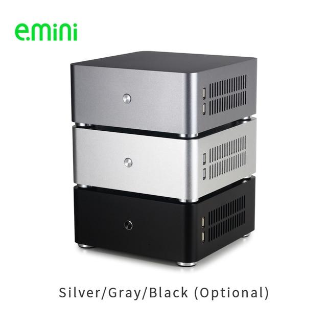 E. מיני H80S מיני ITX מארז מחשב אלומיניום PC מקרה מארז עם כפולה USB3.0 HTPC