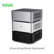 E.Mini H80S Mini ITX คอมพิวเตอร์กรณีอลูมิเนียมกรณี PC CHASSIS Dual USB3.0 HTPC
