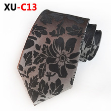 2018 New Neck Tie for Man Silk Formal Dress Tie Paisley Flower Ties Gifts for Men plus embroidered fringe tie neck dress
