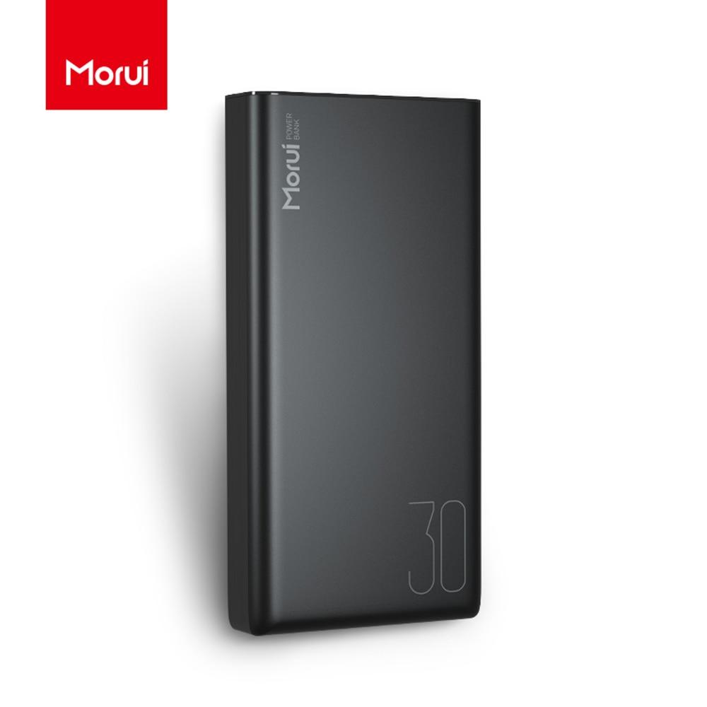MORUI Powerbank 30000mAh PL30 Large Capacity External Battery Power Bank 3 USB Charging Ports for iphone XiaoMi Huawei Phones