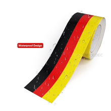 3 Meters 3 Colors Car Waterproof PVC Sticker Badge