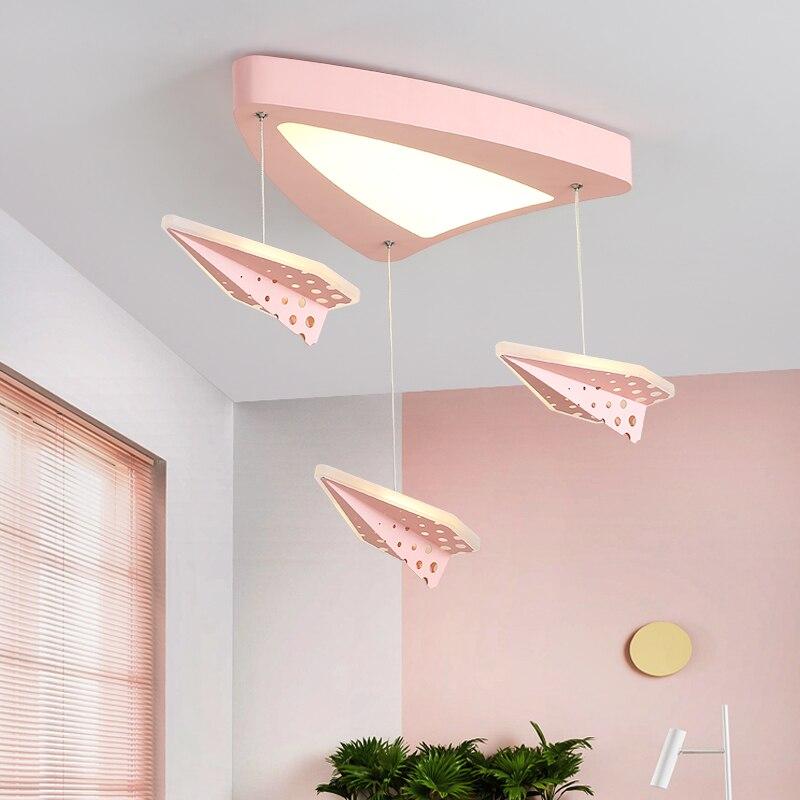 Современные светодиодный светодиодные потолочные светильники Светодиодный лампы для детской спальни lamparas de techo мультфильм самолет синий р