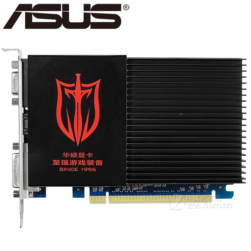 ASUS Video Card Original GT610 2GB 64Bit SDDR3 Graphics Cards for nVIDIA Geforce GPU games Dvi VGA Used Cards On Sale nvidia geforce gt610 gf119 2048mb 64 bit ddr3 pci express x16 graphic card black
