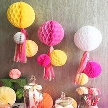 6 дюймов(15 см) декоративные бумажные сотовые шары пастельный цветок день рождения ребенка душ свадьба для праздников и вечеринок украшения Lampion