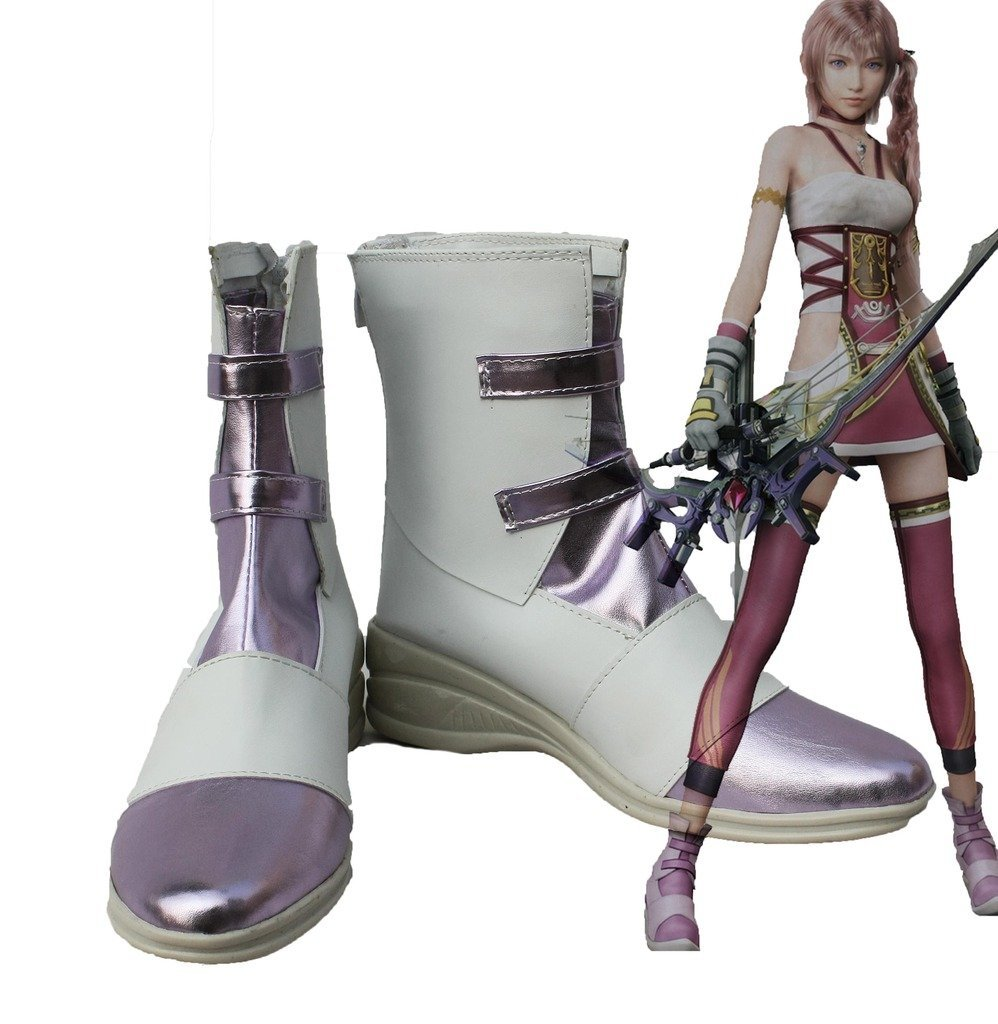 Serah Farron Cosplay Shoes Final Fantasy13 FF13 Serah Farron Cosplay Boots Shoes Custom Made
