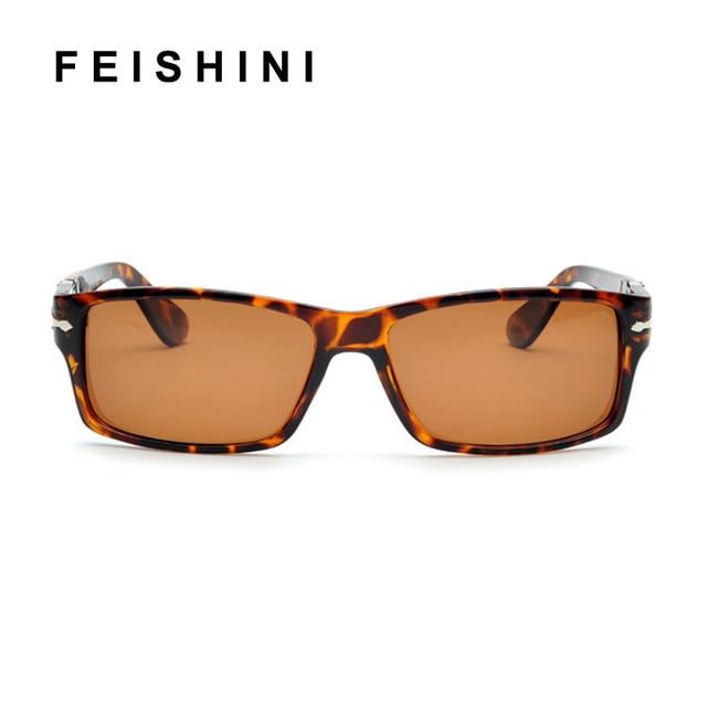 d3ebbc916f FEISHINI 2018 High Quality Polarized Sunglasses Men Rectangle Driving Black  Classic Sun glasses Women Vintage UV400 Eyewear Tom-in Sunglasses from Men s  ...