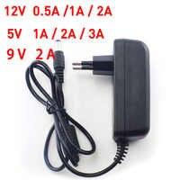 AC 100-240V to DC 5V 12V 9V 1A 2A 3A 0.5A Power Adapter Supply Converter charger EU US Plug 5.5mm x 2.1 2.5mm for CCTV LED Strip