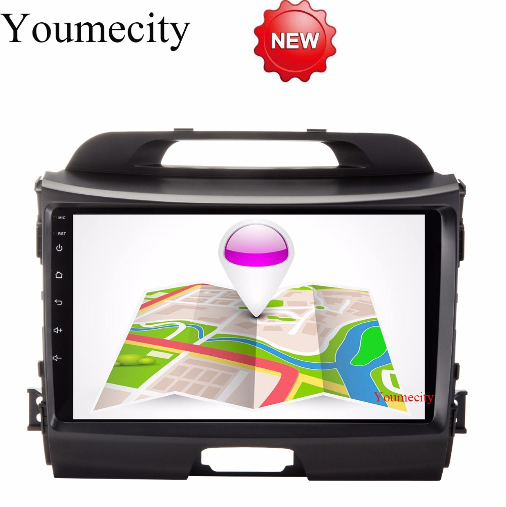 NEW 3G 4G 9 Inch Sportage R Sportage 3 2 Din Android 6 0 Car DVD