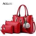 ACELUER Women Contracted Handbags 3 Sets Shoulder Bags Ladies Messenger Bags Top-Handle Bags Women inclined shoulder bag ACE8398
