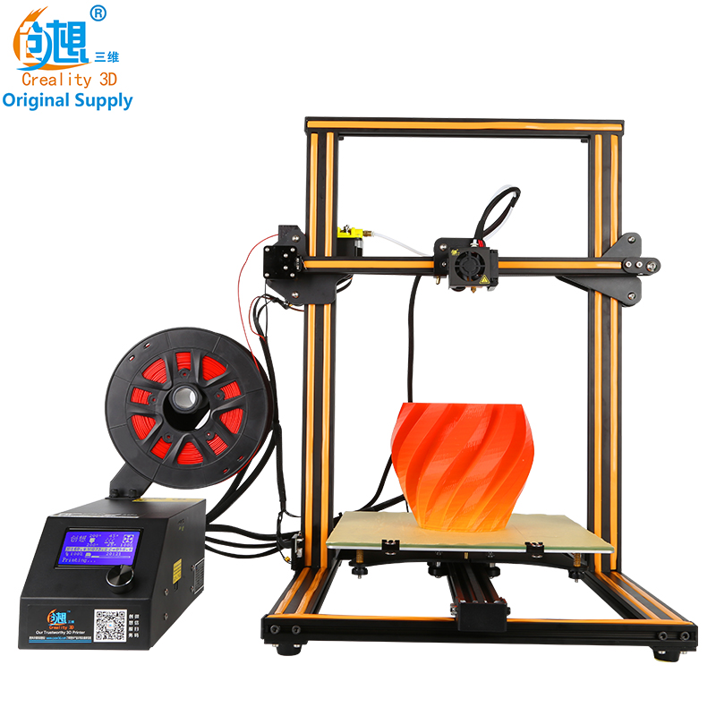 CREALITY 3D Official Store CR-10 Large Size 300*300*400mm Desktop Large 3D printer hot sell,mental frame , affordable 3d printer