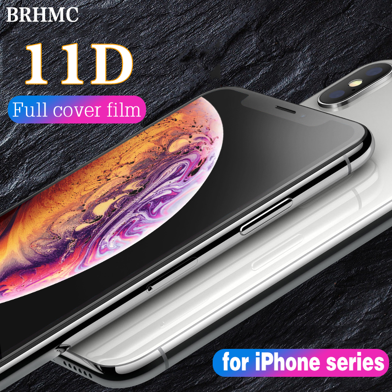 11D Protective Glass For IPhone 6S 7 8 Plus Screen Protector IPhone X Xr Xs MAX Plus Tempered Glass On IPhone Xs Protection Film