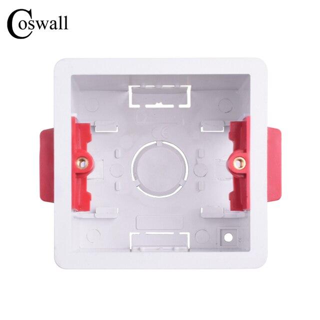 Coswall 1 Gang suche podszewka pudełko do płyt gipsowych Plasterboad 47mm głębokość przełącznik ścienny pole gniazdo ścienne kaseta