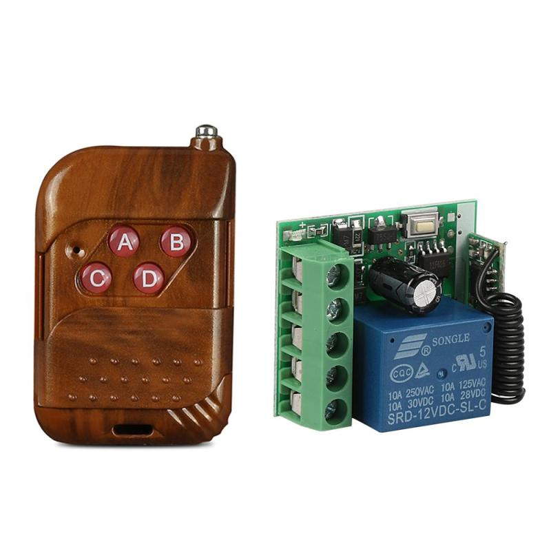 433MHz RF 4-Ch Remote Control Switch DC 12V Learning Code(1527) Transmitter with 1 CH Remote Control Relay receiver Module Z3
