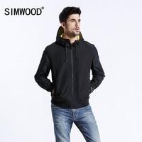 SIMWOOD Brand Jackets New 2019 Spring Jacket Men Thin Windbreaker Fashion Casual Black Coats Slim fit Plus Size Outerwear 180381