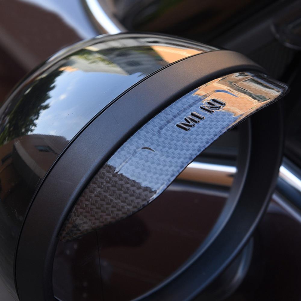 QIDIAN Car Rear View Mirror Rain Eyebrow for Mini Cooper F-Series Clubman Countryman Car Side Wing Mirror Rain Protector Cover Cap/&Visor Protective Car Decoration Accessories