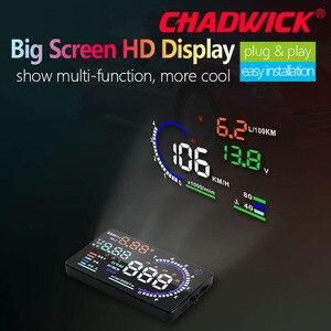 Image 3 - CHADWICK A8 HUD 자동차 헤드 업 디스플레이 LED 윈드 스크린 프로젝터 OBD2 스캐너 속도 경고 연료 소비 데이터 진단 5.5 인치