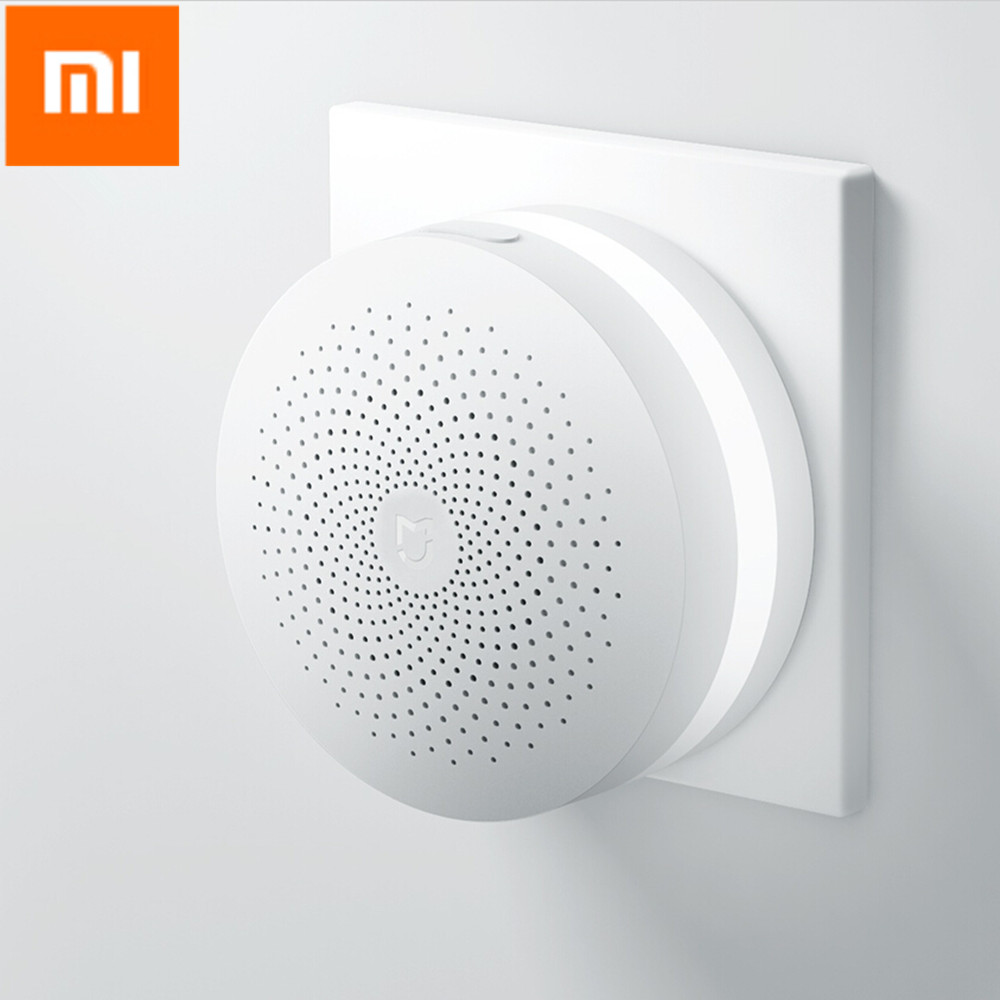 Original Xiaomi Smart Home Multifunctional Gateway Alarm System Control Center Online Radio Night Light Bell