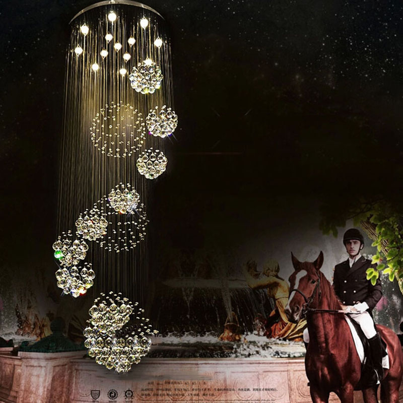 Image 4 - 2018 HOT selling New Modern K9 LED Crystal Chandelier Crystal Lamp 100% Guarantee 110v 240v-in Chandeliers from Lights & Lighting
