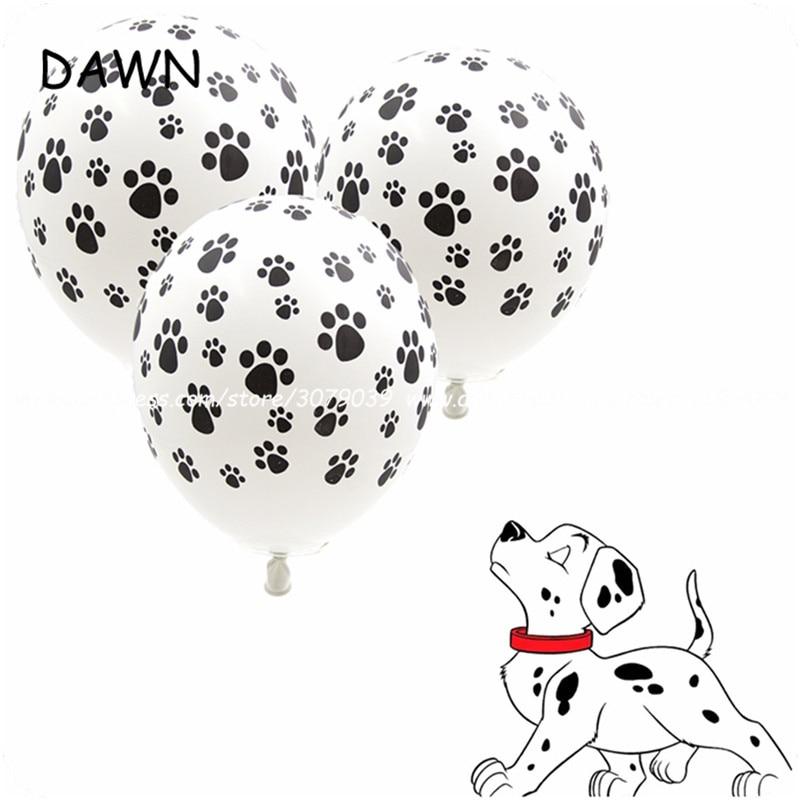 10 шт./лот, 12-дюймовые лапы с принтом собаки, вечерние воздушные шары, латексные шары, подарок на день рождения, детский душ, вечерние игрушки, украшения-2