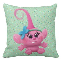 Baby Poppy Throw Pillow Cases Pink Cartoon Cotton Linen Cushion Cover Green Decorative Sofa Pillow Cover