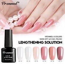 Vrenmol 1 шт полигель для наращивания ногтей быстрое строительство УФ-дизайн ногтей маникюр строительный гель для полировки твердая желе камуфляжная резинка