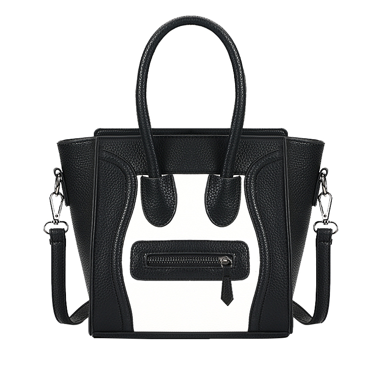 Smiley Trapeze Tote Bags Luxury Brand Leather Handbags Smiling Face Famous Designer Shoulder Bags Crossbody Bags For Women women designer leather smiley trapeze handbag luxury lady smiling face purse shoulder bag girl crossbody bag sac femme neverfull