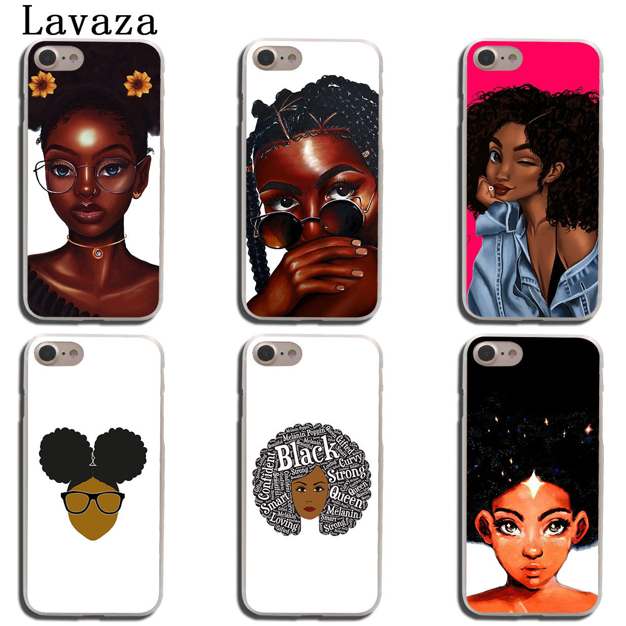 new product 0a218 082db African Beauty Afro Puffs Black Girl Phone Cover Apple Iphone X XR XS Max 6  6S 7 8 Plus 5 5S SE 5C 4S 10 Cases
