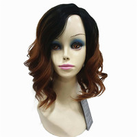 StrongBeauty Wig For Black Women Formal Hairstyles For Medium Hair Synthetic Curly Ombre Full Wigs