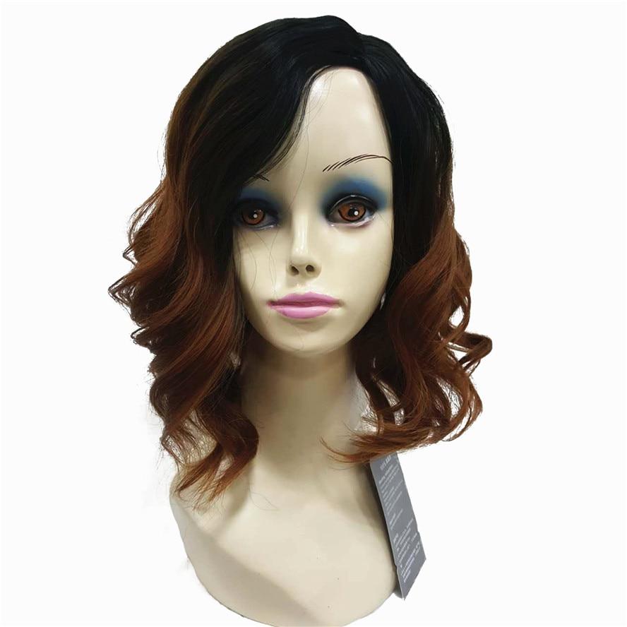 StrongBeauty peruk för svarta kvinnor Formella frisyrer för Medium - Syntetiskt hår