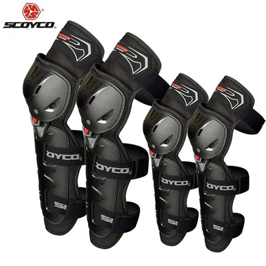 Livraison gratuite 1 Set/4 pièces Motocross genouillère de protection CE genouillère Moto course gardes Moto genouillère et coudière