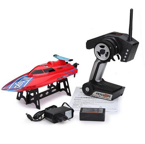W l toys WL911 4CH 2.4กรัมความเร็วสูงRCแข่งเรือRTF 24กิโลเมตร/ชั่วโมงของเล่นควบคุมระยะไกลWL 911 VS FT007 FT009 UDI001 Wl912-ใน เรือ RC จาก ของเล่นและงานอดิเรก บน   1