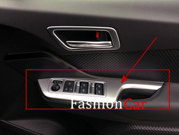 For Toyota C-HR 2016 2017 2018 4pcs/set Matte Surface Car window Switch Button control panel cover frame Trim