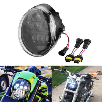 E9 DOT VRSCV-ROD LED Headlight With daytime running light vrod headlight oval for Harley V Rod VRSCF VRSC VRSCR Harley Headlamp daymaker headlight hd vrscf