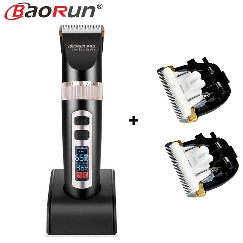 Tondeuse électrique Rechargeable tondeuse à cheveux rasoir rasoir sans fil 0.8-2.0mm réglable à faible bruit pour Salon de coiffure