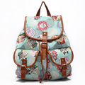 2017 Women Vintage Backpack Female Korean Style National Flower Printing Backpack Teenagers Girl Fresh String Backpack to Travel
